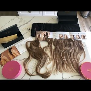 Luxy halo hair extensions